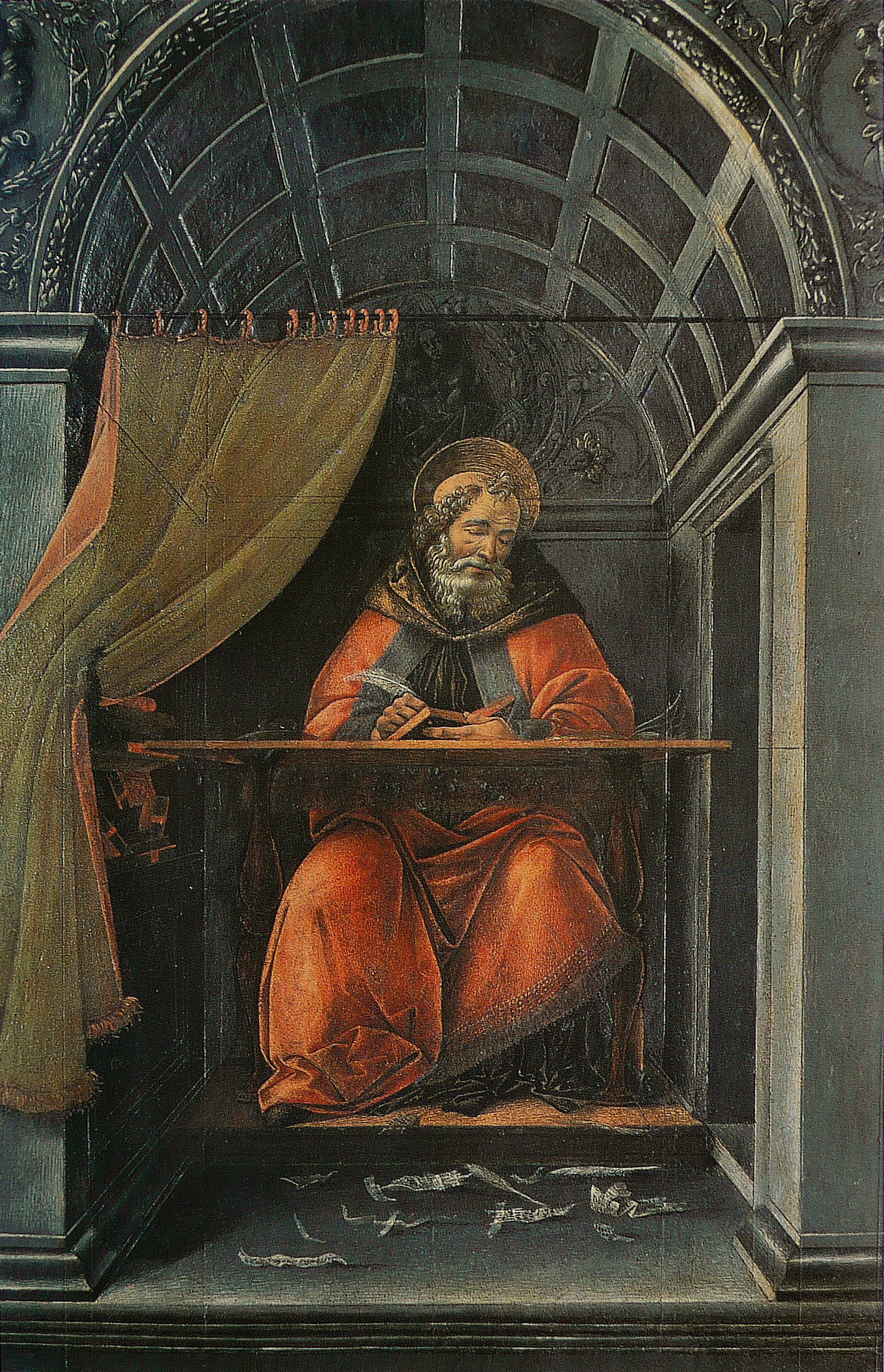 Saint Augustine in His Study by Sandro Botticelli. Image: wikimedia